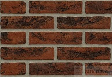красный с черным нюансом голландский клинкер ручной формовки