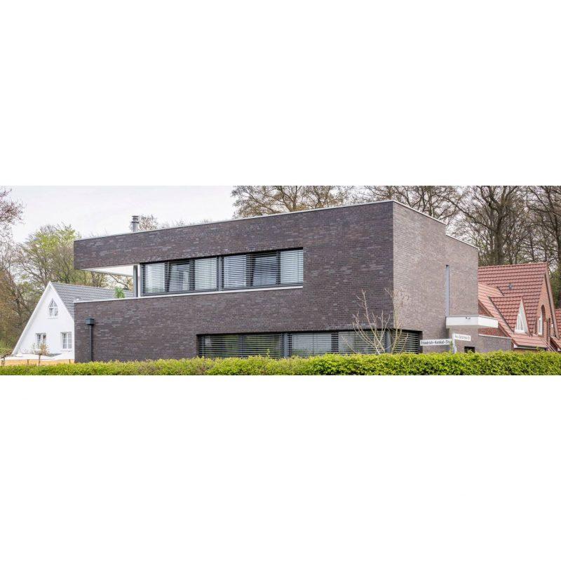 дом из немецкий облицовочный клинкерный кирпич Englischblau-Braun deLuxe, NF ОЛфри будкерамика