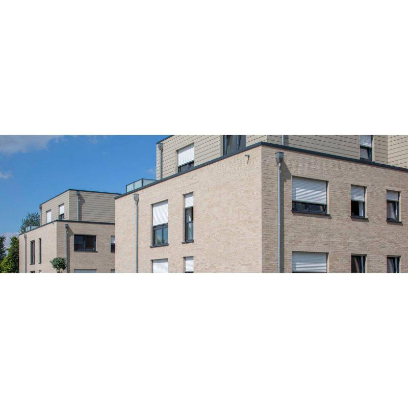 дом облицован немецкий облицовочный кирпич ручной формовки Riemchen Grau deLuxe, NF Будкерамика харьков