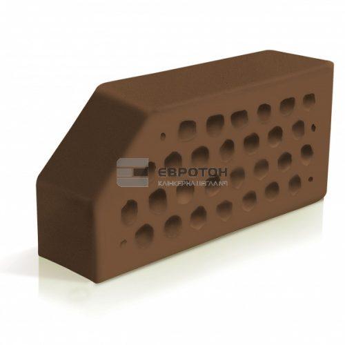 фасонный кирпич скошенный угол коричневый евротон