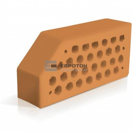 Скошенный угол фасонного кирпича евротон персиковый