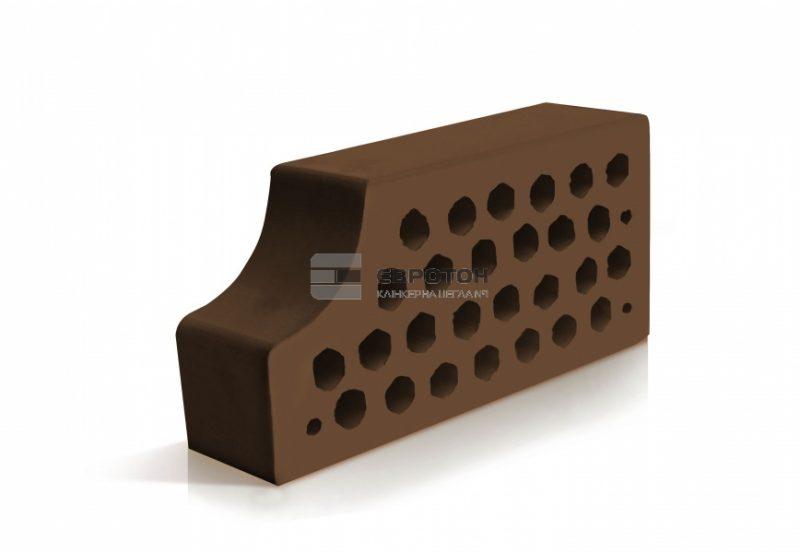 коричневый фасонный кирпич облицовочный вф14 евротон