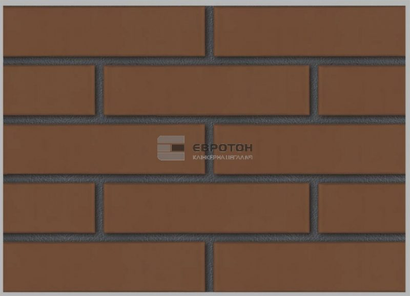 облицовочный кирпич евротон кладка коричневая на черном шве