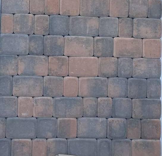 Тротуарная плитка Старый Город Колормикс брусчатка RockSide Корал Будкерамика Харьков
