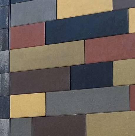 тротуарная брусчатка плитка палуба толщиной 60 мм цветная харьков будкерамика